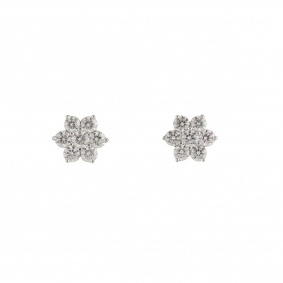 Flower Diamond Earrings 0.95ct